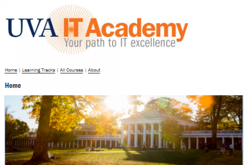 Screenshot of IT Academy Homepage