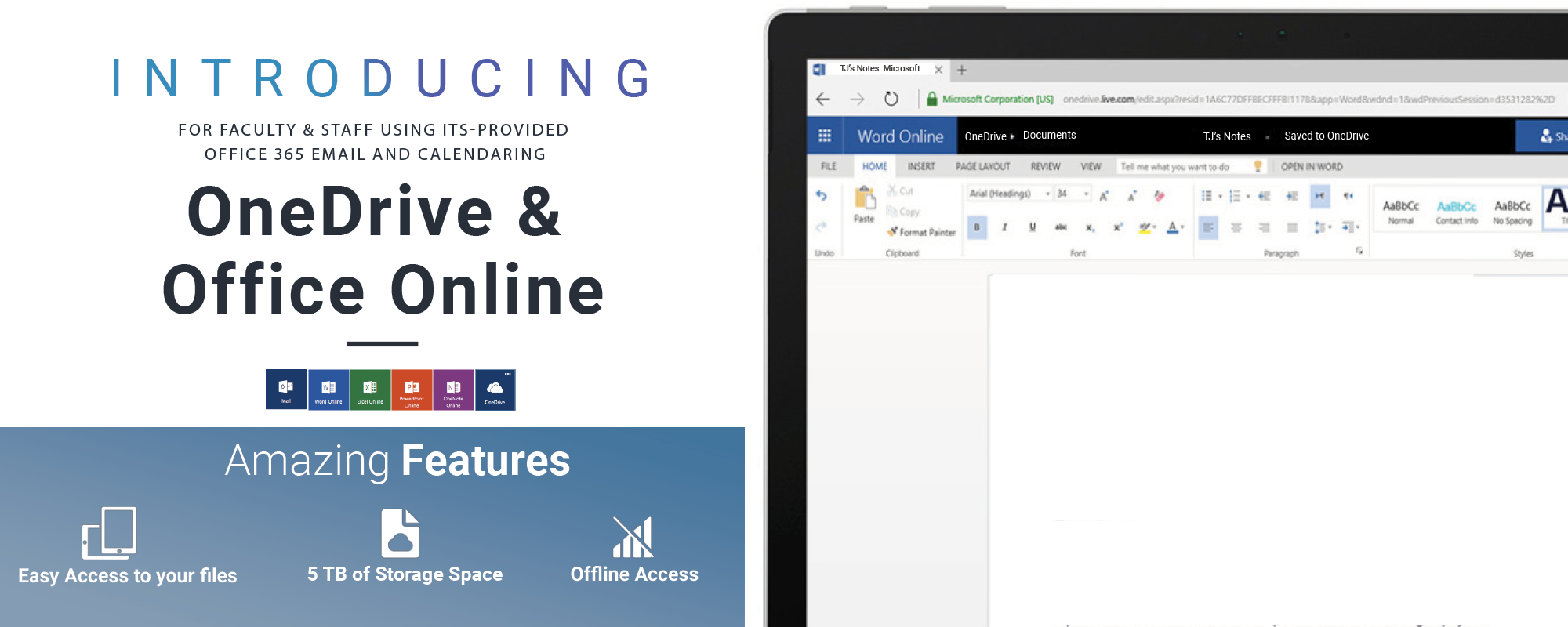 Office 365 OneDrive & Office Online